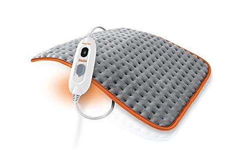 Daga Almohadilla eléctrica Flexy-Heat Colors 2, Microfibra Ultrasuave, Gris y Naranja, 45...