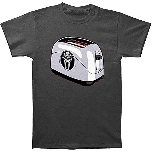 Frakkin Toaster Cylon Charcoal Adult T-Shirt-M