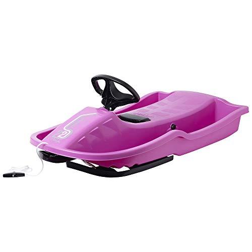 STIGA Kinder Snowpower-Steering Sledge, Rosa,Einheitsgröße