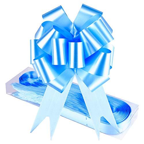 WXJ13 - Confezione da 30 coccarde auto-tiranti, per decorazioni da parete, feste, regali, alberi di Natale, decorazioni per matrimoni