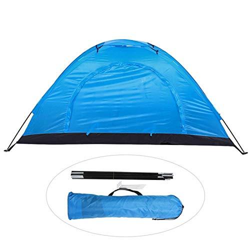Cyrank Tienda de campaña para mochileros, Tienda para mochileros para 1 Persona, Tienda de Supervivencia Tienda de Cabina instantánea con diseño de ventilación avanzado(Azul)