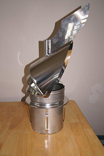 Rotowent Dragon PT–Cheminée auto-ajustable pour insertion non inoxydable pour ouvrir 15,2cm 20,3cm 25,4cm