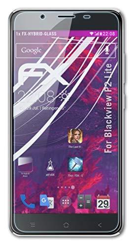 atFolix Glasfolie kompatibel mit Blackview P2 Lite Panzerfolie, 9H Hybrid-Glass FX Schutzpanzer Folie