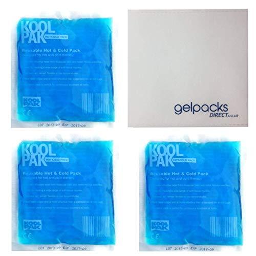 Koolpak - Pack de 3 bolsas de frío y calor con 1 funda protectora Gelpacksdirect