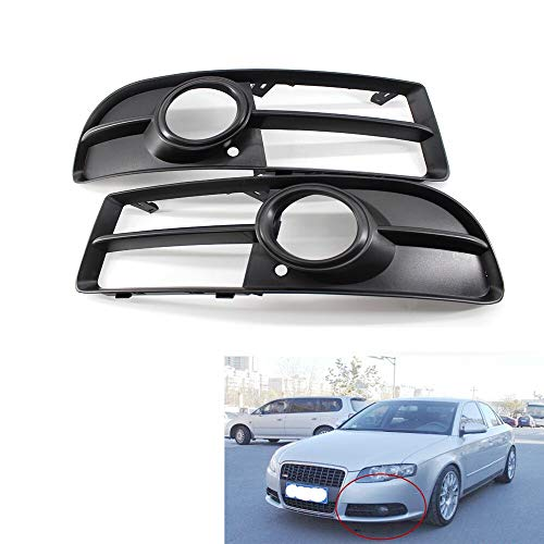 Parachoques de niebla de la parrilla de la lámpara de la rejilla delantera inferior del parachoques lateral de la luz de niebla de la rejilla de la luz del par para Audi A4 B7 S-line S4 06-08