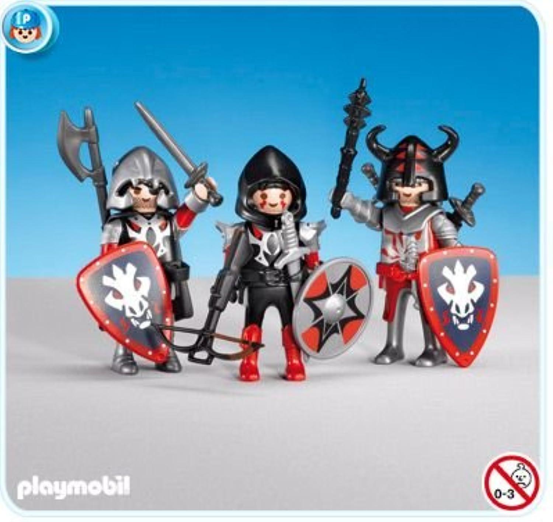 PLAYMOBIL 7975 - 3 chevaliers Dragons rossos