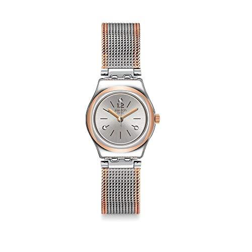 Swatch Reloj Analógico para Mujer de Cuarzo con Correa en Acero Inoxidable YSS327M
