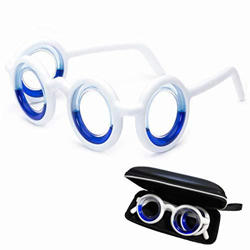 Wuli Peach Anti-Motion Sickness Smart Liquid Glasses, Black Technology Relieve Seasickness Airsickness, Ultra-Light Foldable Portable Lensless Travel Sports Glasses for Adults Kids
