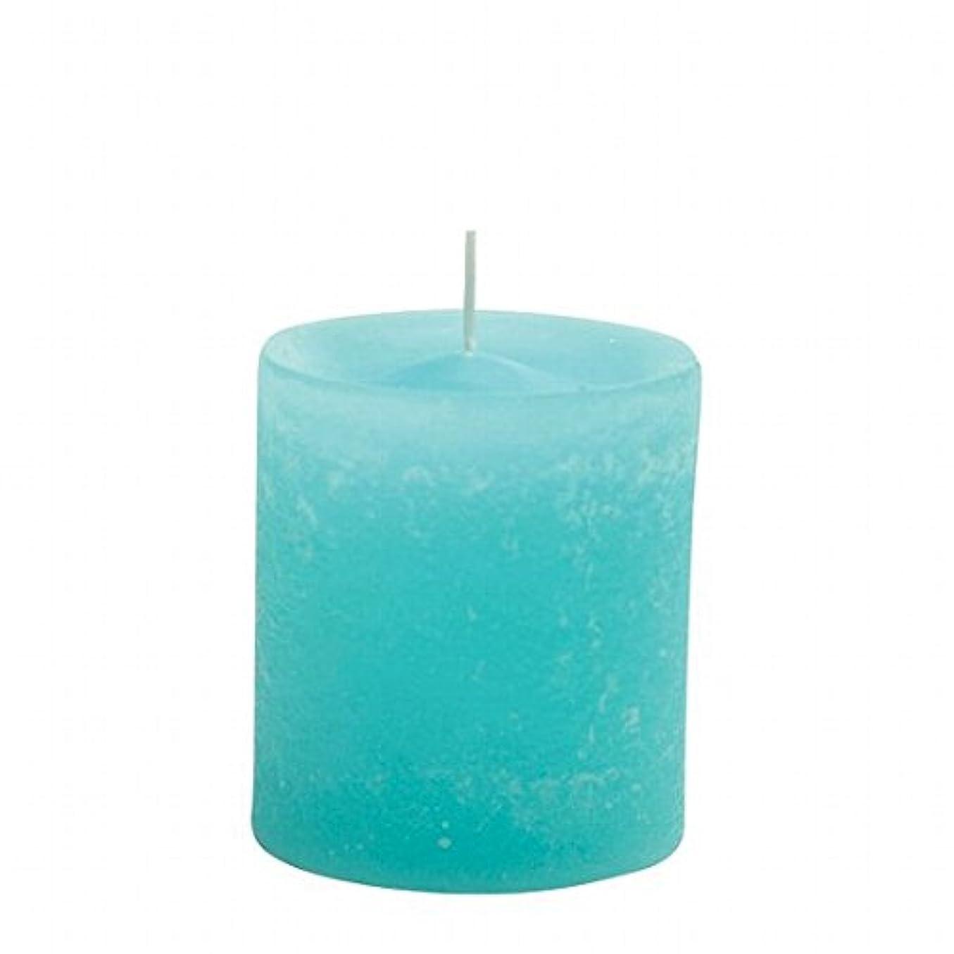 スキャンダル鋸歯状トークカメヤマキャンドル(kameyama candle) ラスティクピラー70×75 「 ライトブルー 」