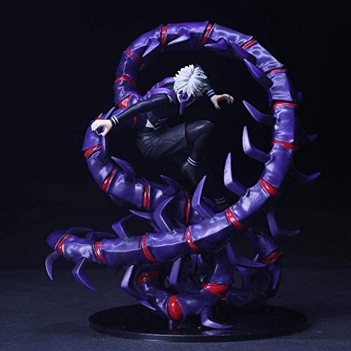 KIJIGHG QAL Tokyo Ghoul Figuras de Anime Personaje Figuras Adultas Modelo Cosplay PVC Estatua Hecha a Mano Anime Personaje de Dibujos Animados Modelo 28CM