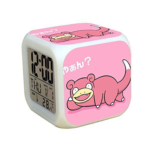 XKUN Little beast - Reloj despertador digital con luces LED (7 colores, para niños, regalo de cumpleaños, estilo 39)