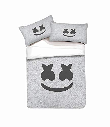 YYDD Duvet Cover Sets DJ 3D Printing 3 Piece Set Bedding 100% Microfiber For Gifts (1 Duvet Cover + 2 Pillowcases) -Clean Beautiful B-Twin(172x218cm)