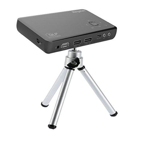 Mengshen Ricaricabile Videoproiettore Mini DLP Proiettore 30000 Ore HD 1080P Supporto Portatile Pocket Projector con AV/HDMI/USB/VGA LED Proiettori MS-GP1S