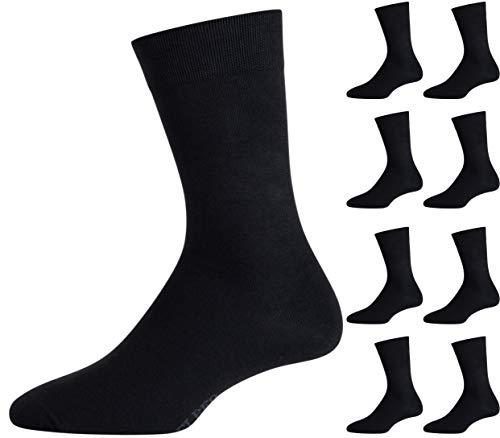 ELBEO Herren Business-Socken Freizeitsocken 905597 9 Paar, Farbe:Schwarz, Menge:9 Paar (3x 3er Pack), Größe:39-42, Artikel:-5300 schwarz