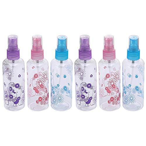 Beaupretty 6 Pcs Vaporisateur Petit Petit Spritz pour l'eau de Parfum Eau de Cologne Échantillons Maquillage des Cheveux Parfum (Couleur Aléatoire)