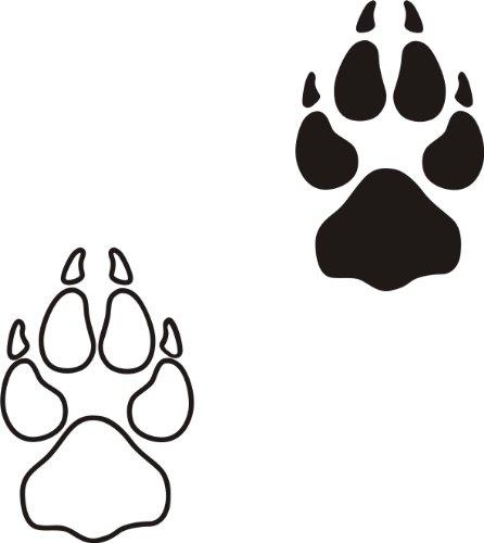 der-pferdeshop XL Hundeaufkleber Hundepfote mit Wunschtext fürs Auto HP3 (25cm)