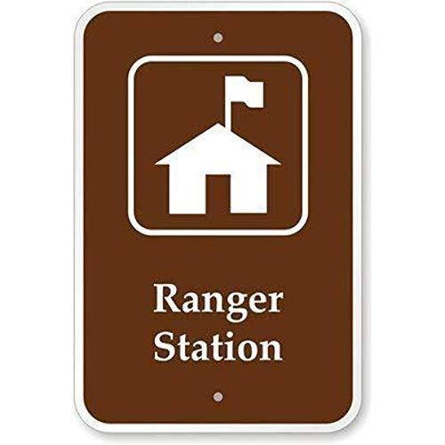BDTS Aluminium Teken Ranger Station Plaque voor Yard Garage Oprit Huis Hek Metalen Tin Teken 8x12 inch