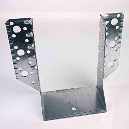 100 x 140 mm Balkenschuh (10 Stück) Balkenschuhe verzinkt DIN EN 10326 Holzverbinder mit Zulassung außenliegend aussen