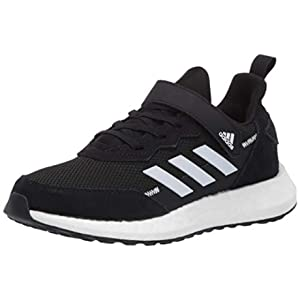 adidas Kids Unisex's RapidaLux Suede and Leather Running Shoe, core Black/FTWR White/Grey, 5 M US Big Kid