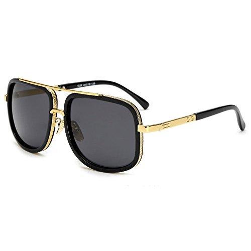 SHEEN KELLY Retro Sonnenbrillen Marken Metall Rahmen Pilot Platz Spiegel Sonnenbrillen herren damen Gold
