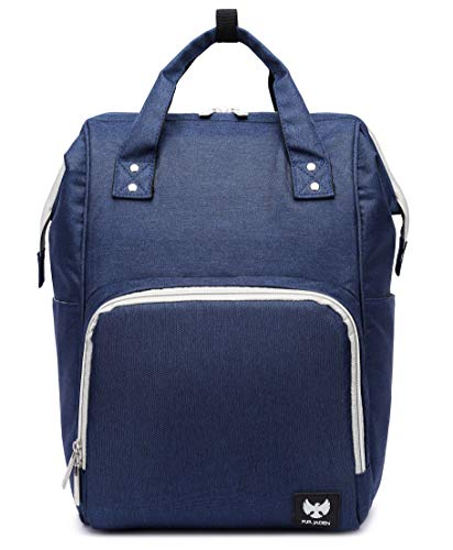 FUR JADEN Multifunctional Premium Diaper Backpack Bag for Moms for Travel and Daily Use with Insulation for Milk Bottles (Navy)