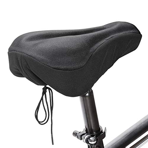 Eono by Amazon - Funda de Asiento de Bicicleta de Gel Ultrasuave Acolchada Antideslizante para Bicicleta de Carretera y Bicicleta de MontañA (Negro)
