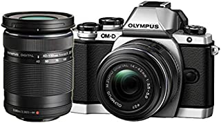Olympus Mark II Mirrorless Camera Olympus OM-D Mark II Mirrorless Digital Camera with 14-42mm and 40-150mm Lenses, Silver, (E-M10), Silver (E-M10)