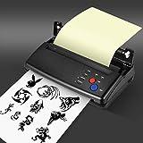 KKTECT Máquina de transferencia de tatuajes Impresora térmica Máquina copiadora de tatuajes profesional Material ABS Impresora de manuscritos de patrones 10 piezas de papel de transferencia térmica