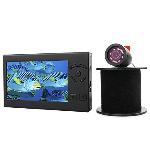 BYBYC Cámara HD de Pesca Buscador de los Pescados LED Fish cámara de visión de 4,3 Pulgadas 1000TVL buscador de los Pescados bajo el Agua 5000Mah 8pcs luz Blanca