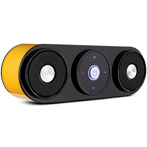 Bluetooth Speakers, ZENBRE Z3 10W Portable Wireless Speakers with 20h Playtime, Computer Speaker with Dual-Driver Enhanced Bass Resonator (Yellow)
