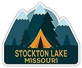Stockton Lake Missouri Souvenir 4 Inch Vinyl Decal Sticker Camping Tent Design