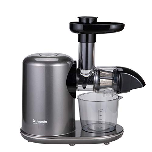 Bagotte Slow Masticating Juicer Extractor Easy to Clean, Quiet Motor, BPA-Free, Cold Press Juicer with Brush, Juice Recipes for Vegetables and Fruits