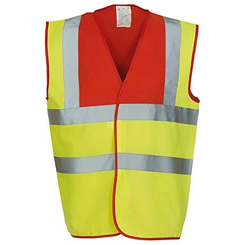 Yoko - Gilet de sécurité haute visibilité - Unisexe (S) (Jaune/Rouge)