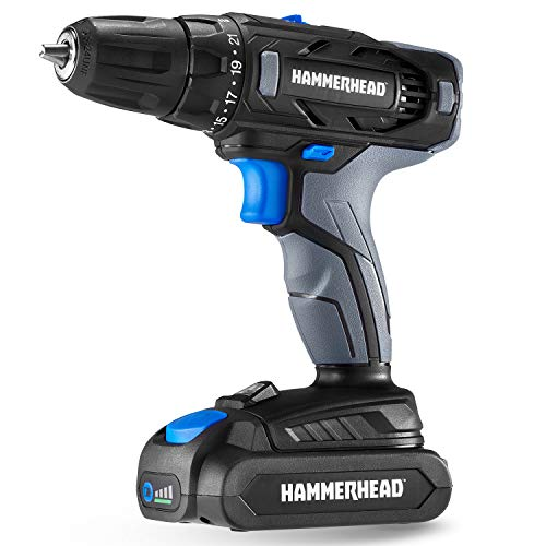 Hammerhead 20V 2-Speed Cordless Drill Driver Kit with 1.5Ah Battery and Charger - HCDD201