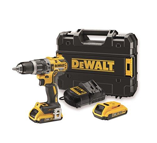 DEWALT DCD796D2-QW - Taladro percutor 18V, 34.000 ipm, 2 baterías de litio 2Ah, cargador y maletín TSTAK