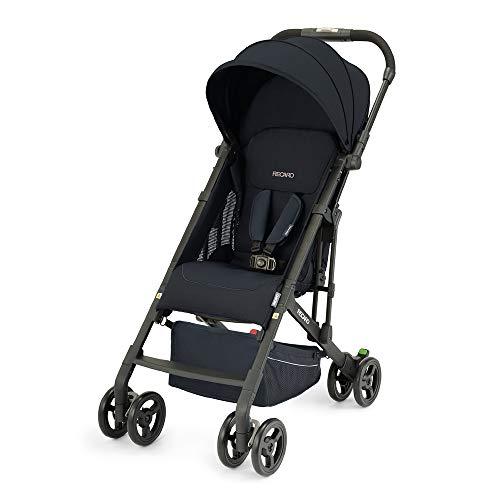 Recaro Kids, Buggy Easylife 2 (6 Monate-22 kg), Buggy 2 in 1 kompatibel mit Babyschale, Leichter Buggy, Kompakt, Einfach zu Bedienen, Hervorragende Luftzirkulation, Sonnenverdeck, Select Night Black
