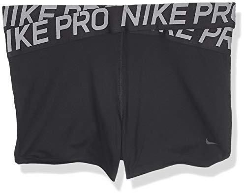 Nike Damen Pro Shorts, Black/Thunder Grey, XL