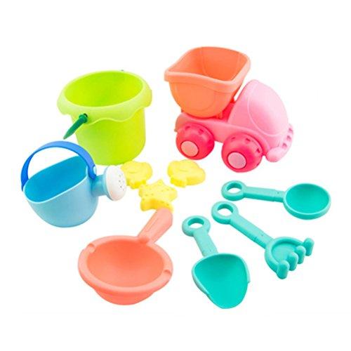 Toyvian 10 stücke Kinder Sandspielzeug Strandspielzeug Kunststoff Badewanne Sand Spielzeug Kinder Strand Spiel spielset