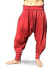 Savari Pantalones Yoga Pilates Harem Etnicos Uniforme Comodos Hombre Mujer Lisos Negro Gris Marino Blanco Vino Tallas Adulto y Tallas Grandes 2XL