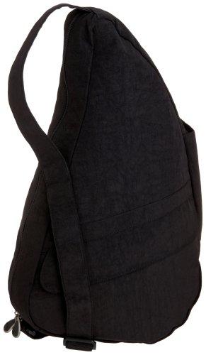 AmeriBag Classic Distressed Nylon Healthy Back Bag tote Medium 6104,Black,one size