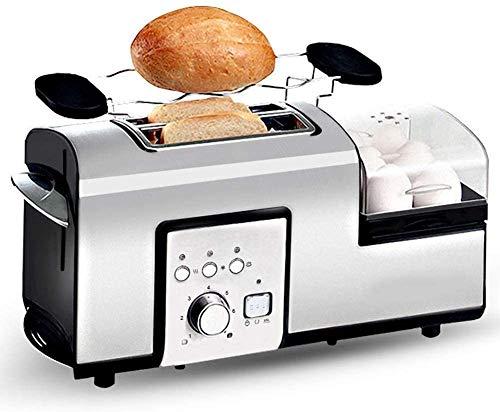 YXZQ Brotbackautomat Toaster aus Edelstahl mit 2 Scheiben Sandwich Brotbackautomat Brotbackautomat zum Auftauen/Aufwärmen/Abbrechen Funktion Herausnehmbares Tablett für Mich