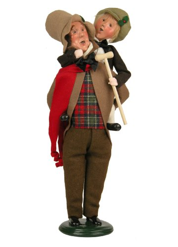 Byers' Choice Bob Cratchit & Tiny Tim Caroler Figurine 209 from The A Christmas Carol Collection