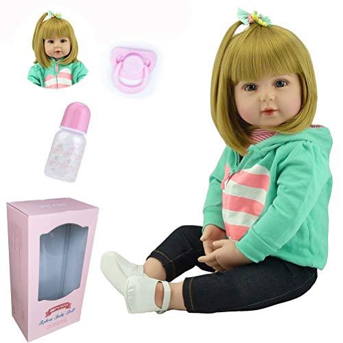 ZIYIUI Bambole Reborn 18''/47Cm Realistico Bambole Bambina Simulazione Morbido Silicone Vinile Bambola Reborn Femmina Magnetica Bocca Ragazza Ragazzo Giocattoli
