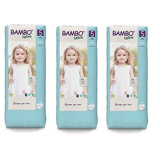 Bambo Nature - Pannolini ecologici di qualità, taglia 5, 12-18 kg, confezione da 44 pezzi