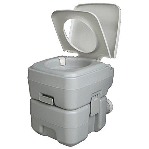 VINGLI Portable 5.3 Gallon Flushing Camping Toilet w/Carrying Bag, Splash-Free Dumping, Anti-Leak Water Pump, Large Capacity Waste Tank for RV/Boat/Truck (Upgraded)