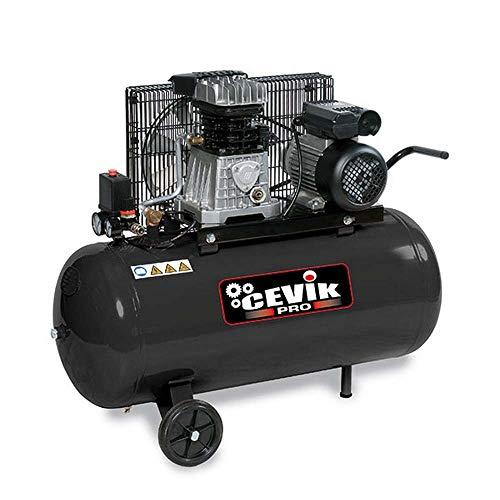 Cevik CA-AB100/2M CA-AB100/2M-Compresor - Correas con ruedas y fijos 230V-2HP-100 10 BAR-250 LT./ min