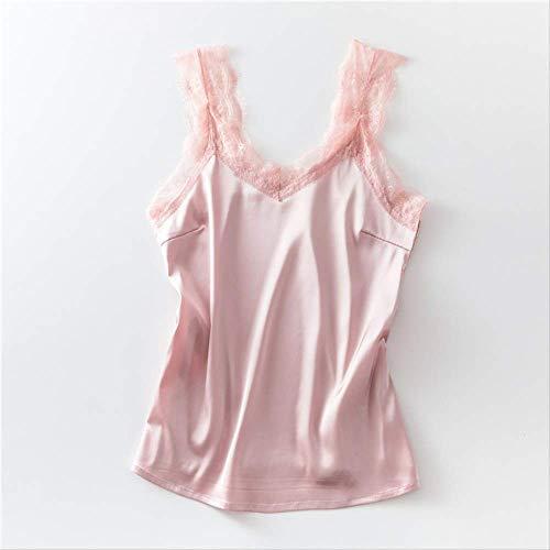 Camisole hemd voor dames met wijde schouder en V-hals en losse buitenmantel