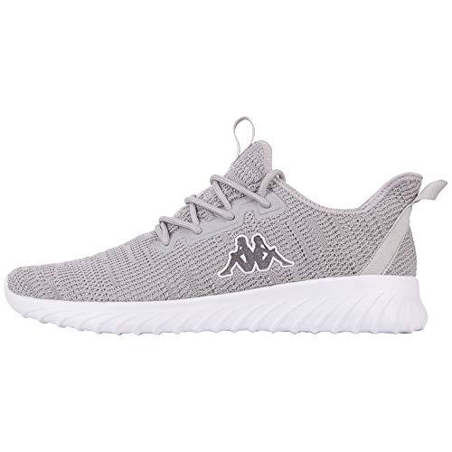 Kappa Unisex Capilot Sneaker, Grey White, 40 EU