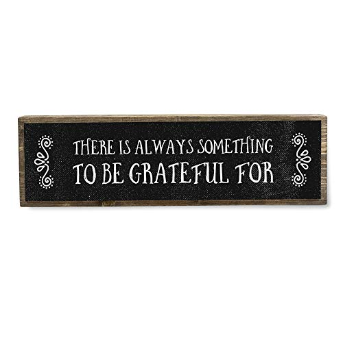There is Always Something to Be Grateful for - Handmade Metal Wood Positive Motivational Signs– Inspirational Wall Art – Motivational Wall Art
