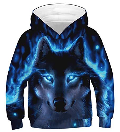 uideazone Jungen Mädchen Hoodies 3D Cool Hoody Kapuzenpullover Funny Pullover Langarm Sweatshirts 6–16 Jahre